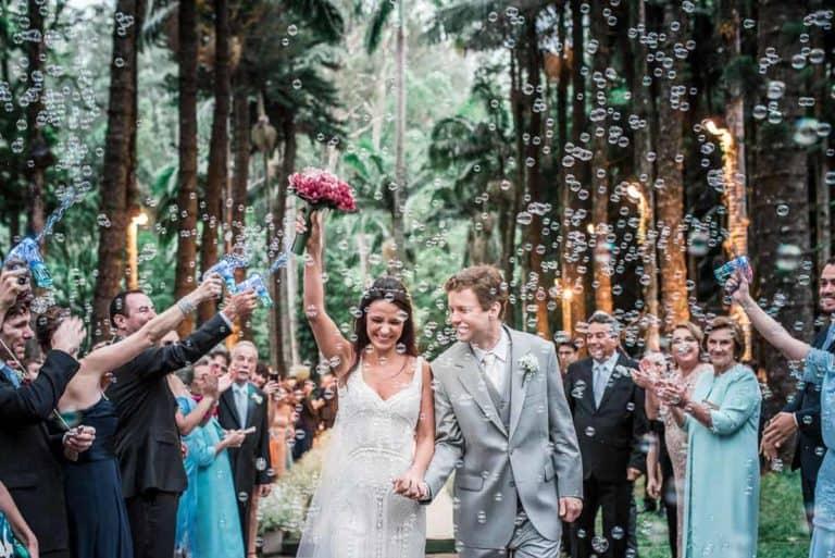 Bolhas de Sabão Casamento Dia
